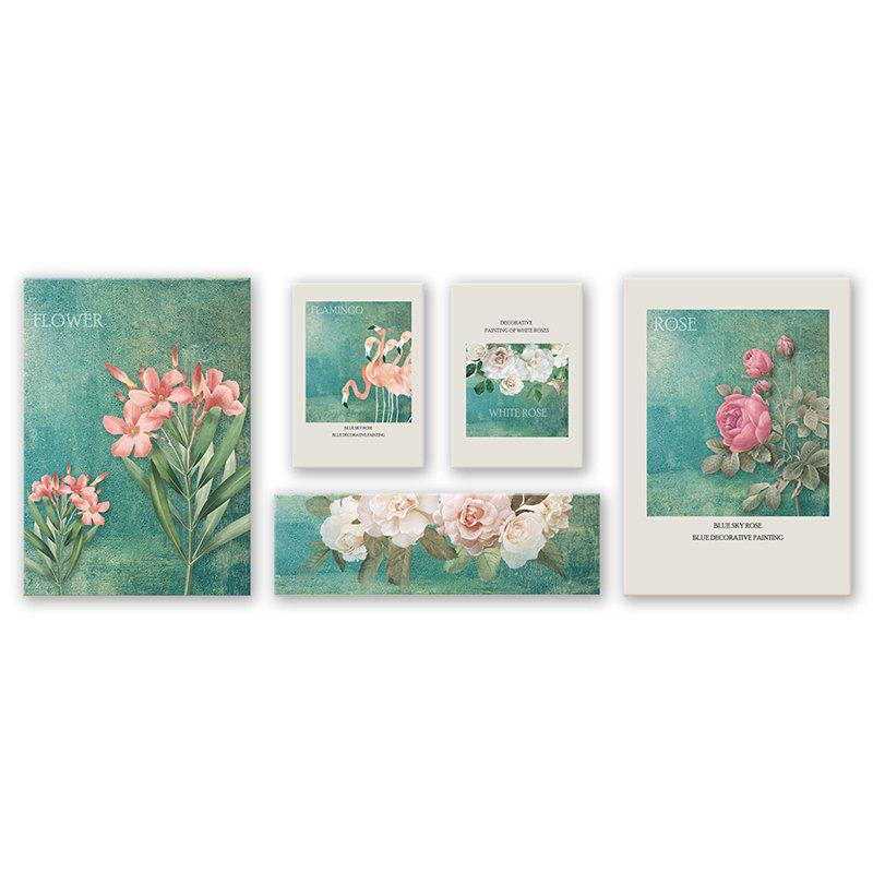 Store 5PCS W472 Flower Cartoon Combination Frameless Painting