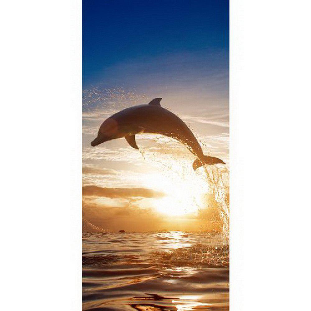 New MailingArt 3D HD Canvas Print Door Wall Sticker Mural Home Decoration  Dolphin