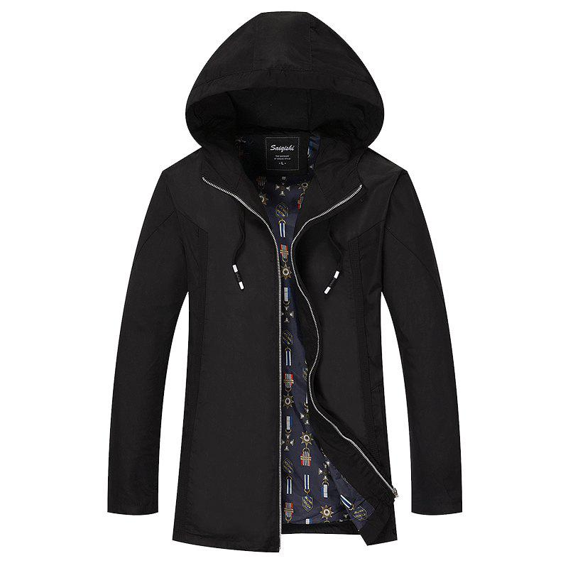 Hot Men's Casual Jacket Hooded Simple Top