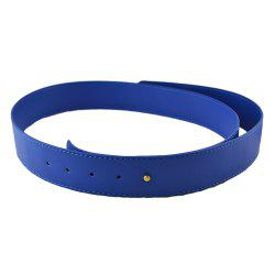 Fashion Polychromatic PU Leather Wide Belt -