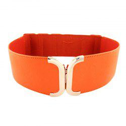 Fashion Geometry PU Leather Elastic Belt -