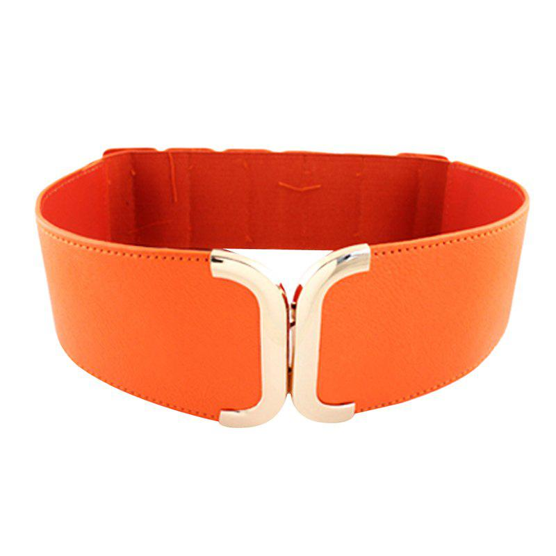 Fashion Fashion Geometry PU Leather Elastic Belt