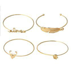 4pcs Fashion Deer Snowflake Lovely Bracelet -