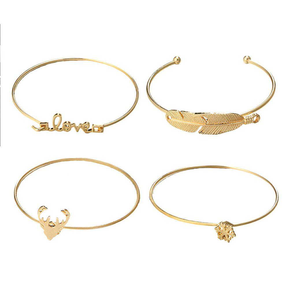 Store 4pcs Fashion Deer Snowflake Lovely Bracelet