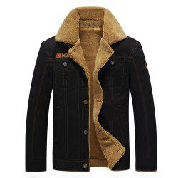 QIQICHEN 77CITY Cotton and Velour Padded Lapel Tooling Jacket -