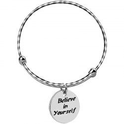 Letter Smooth Adjustable Push-pull Live Bangle -