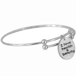 Simple Letter Round Push-pull Bangle -
