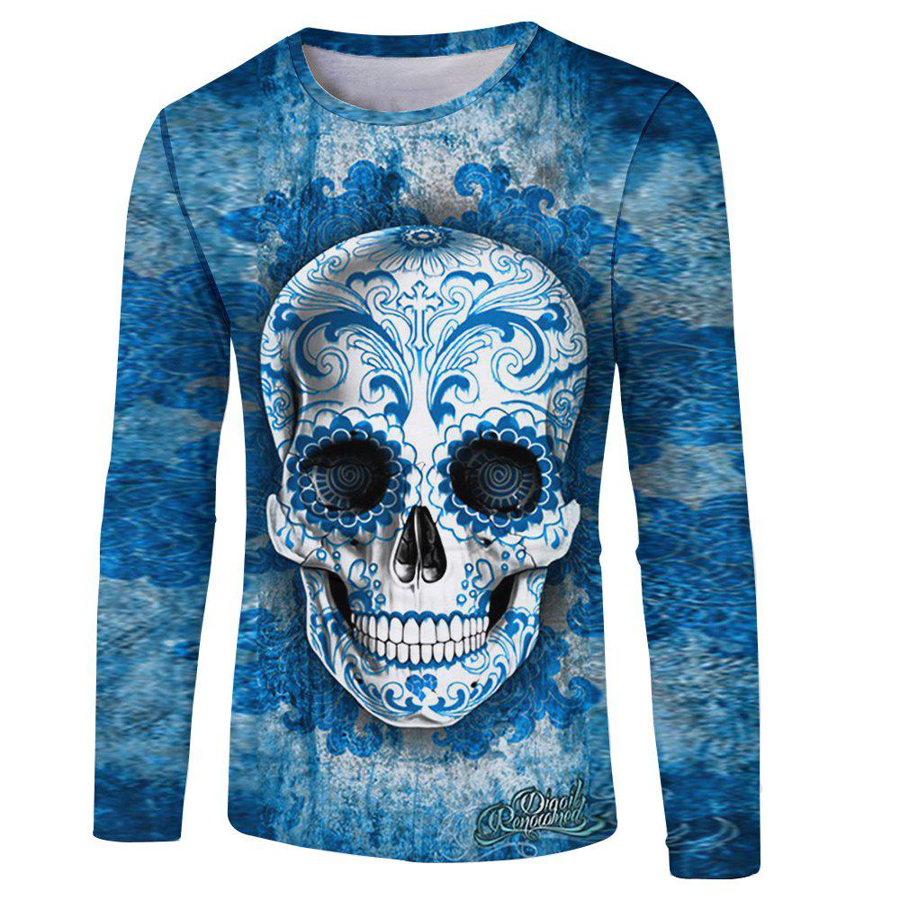 Store Skull Print Men's Long Sleeve T-shirt