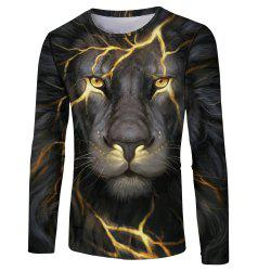 Lion Tiger 3D Print Men's Long Sleeve T-shirt -