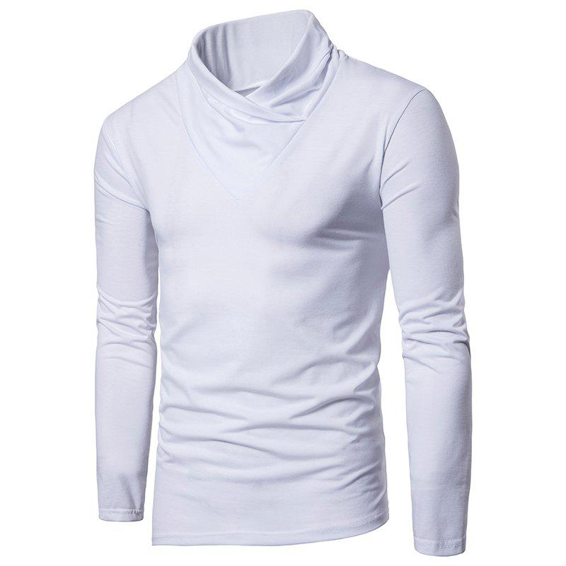 Unique Irregular Fashion Solid Color Men's Long-sleeved T-shirt