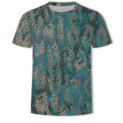 Men's Fashion Large Size Novelty 3D Printed Short-sleeved T-shirt -