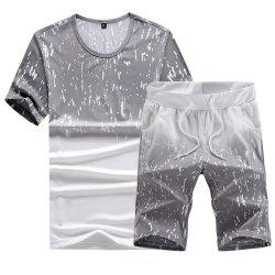 Casual Summer Two-Piece Printed Men's Sports Suit -