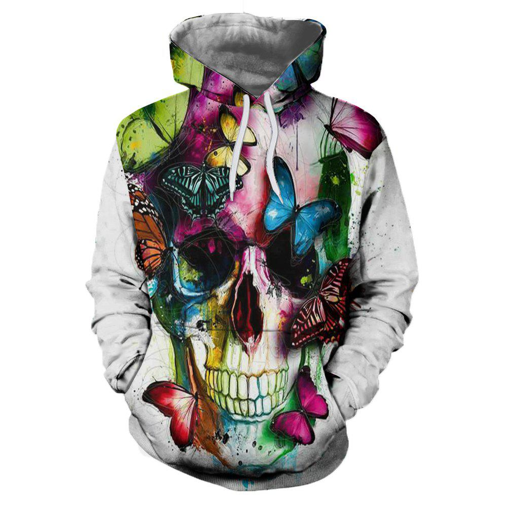 Latest Men's Painted Casual 3D Printed Hooded Sweatshirt