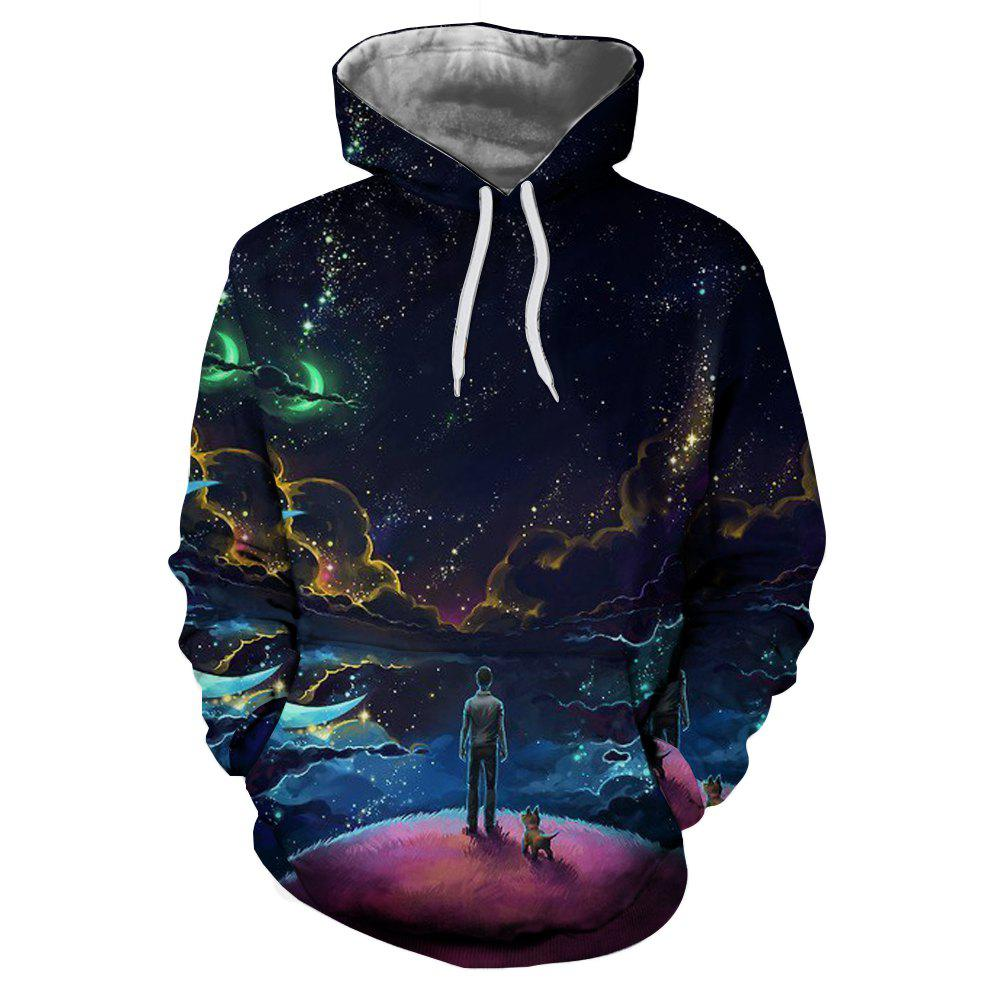 Outfits Men's Casual 3D Printed Hooded Sweatshirt