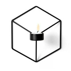 European Style Decorations 3D Geometric Iron Metal Wall Candle Candlestick -