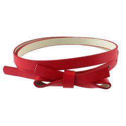 PU Leather Solid Adjustable Belt for Women -