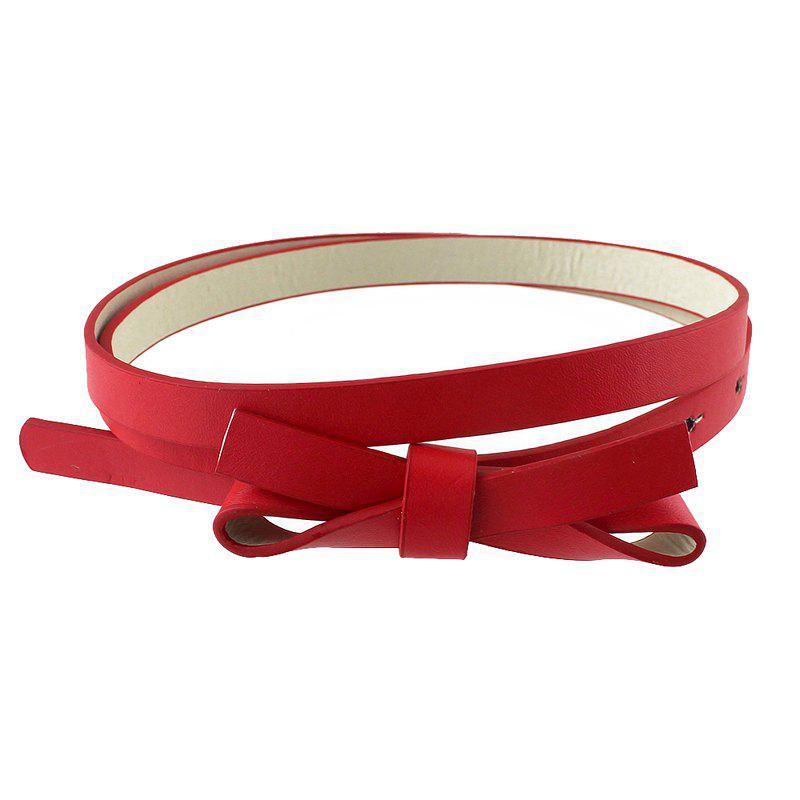 Trendy PU Leather Solid Adjustable Belt for Women