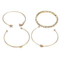 Full Moon Five Pointed Star Bracelets Set -