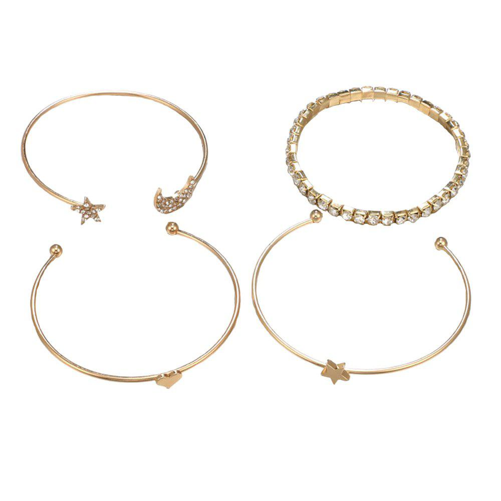 Fashion Full Moon Five Pointed Star Bracelets Set