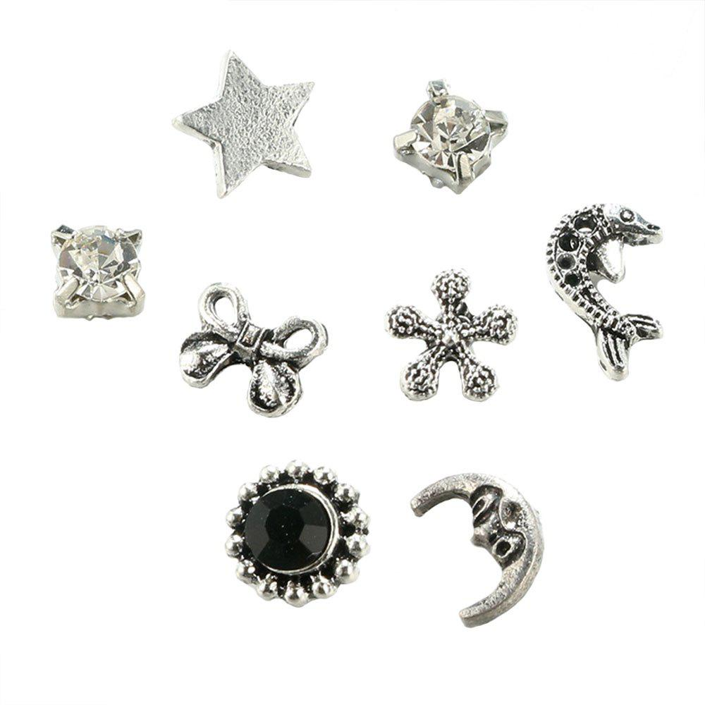 Affordable Alloy Star Moon Bow Earring Suit