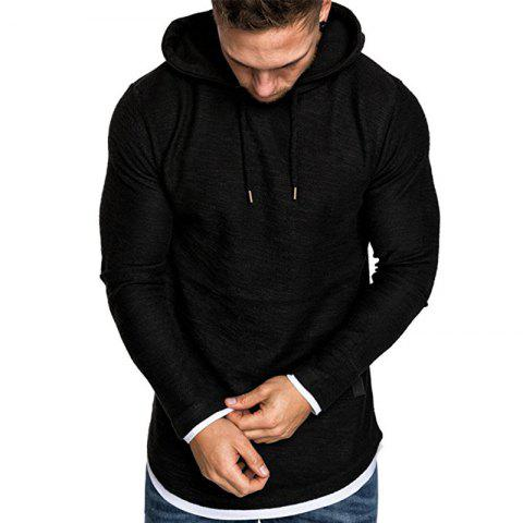 Men's Fashion Camouflage Stitching Two-piece Hooded Casual Slim Sweater