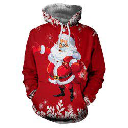 Christmas Clothing Digital Print Thermal Transfer Men's Hoodie Sweater -
