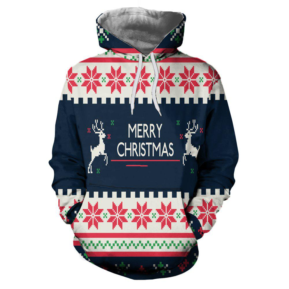 Shops Christmas Clothing Digital Print Thermal Transfer Men's Hoodie Sweater