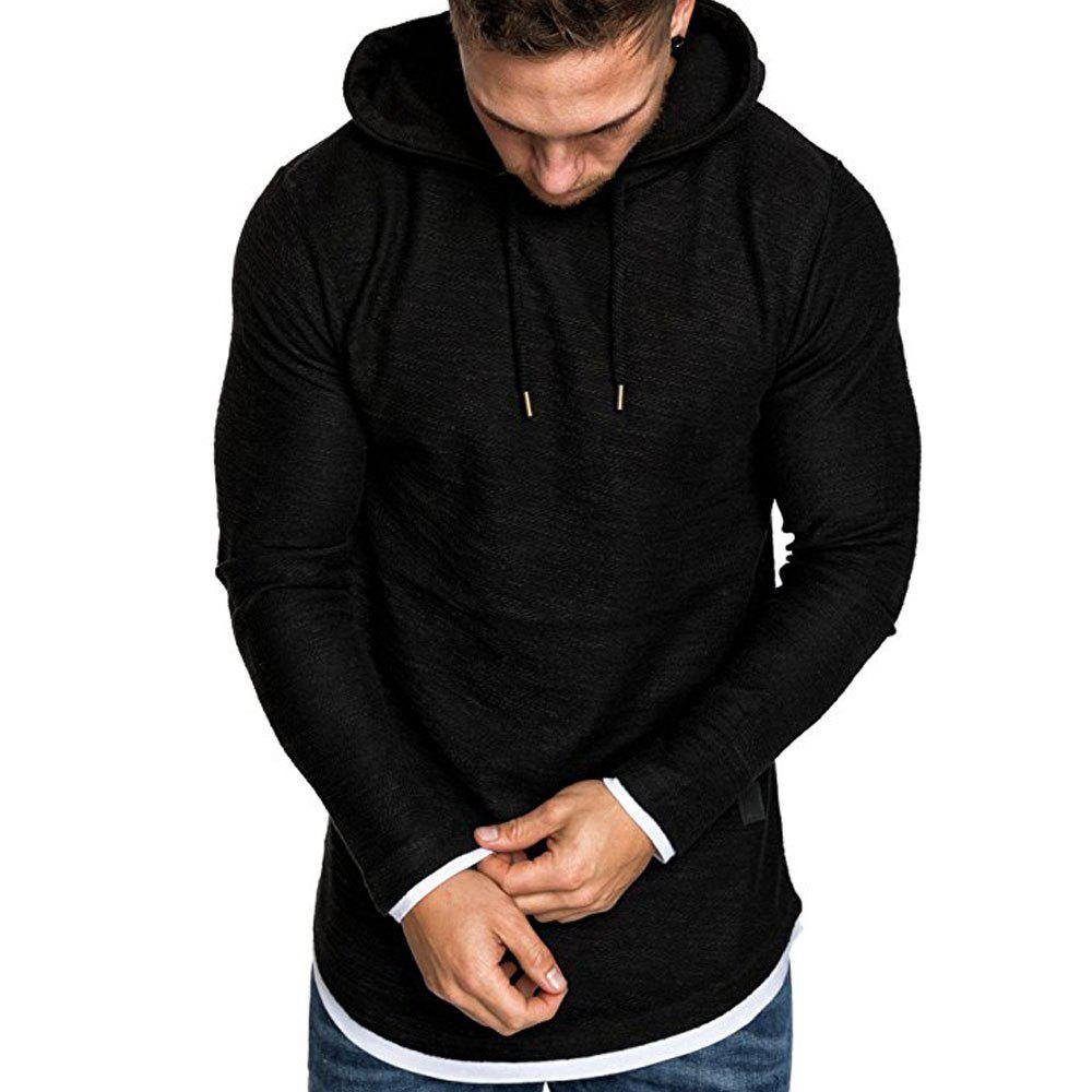 Cheap Autumn Winter Men's  Fashion Casual Multi-color Long-sleeved Sweatshirt