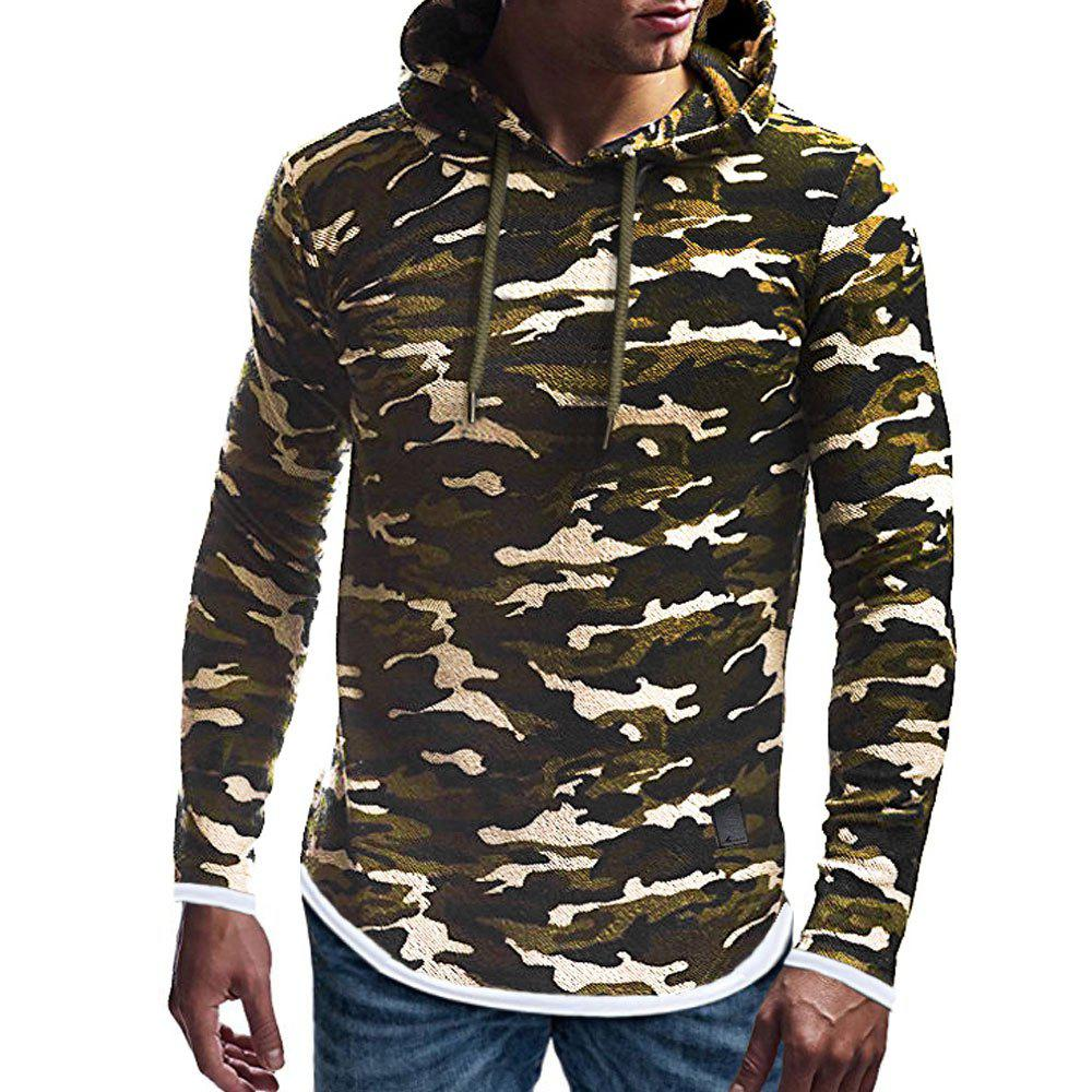 Sale Autumn Winter Men's  Fashion Casual Multi-color Long-sleeved Sweatshirt