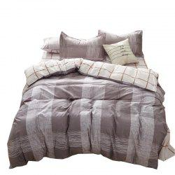 Ensemble de literie Nordic Aloe Cotton - Gris Stripe -