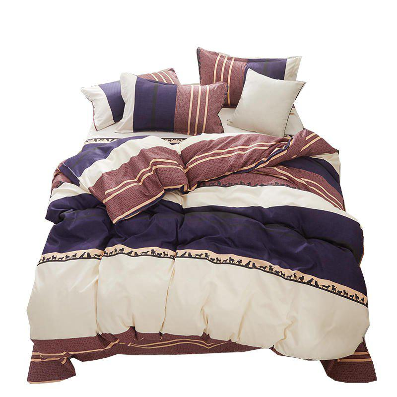 Shops Nordic Aloe Cotton Bedding Set-Big Stripe
