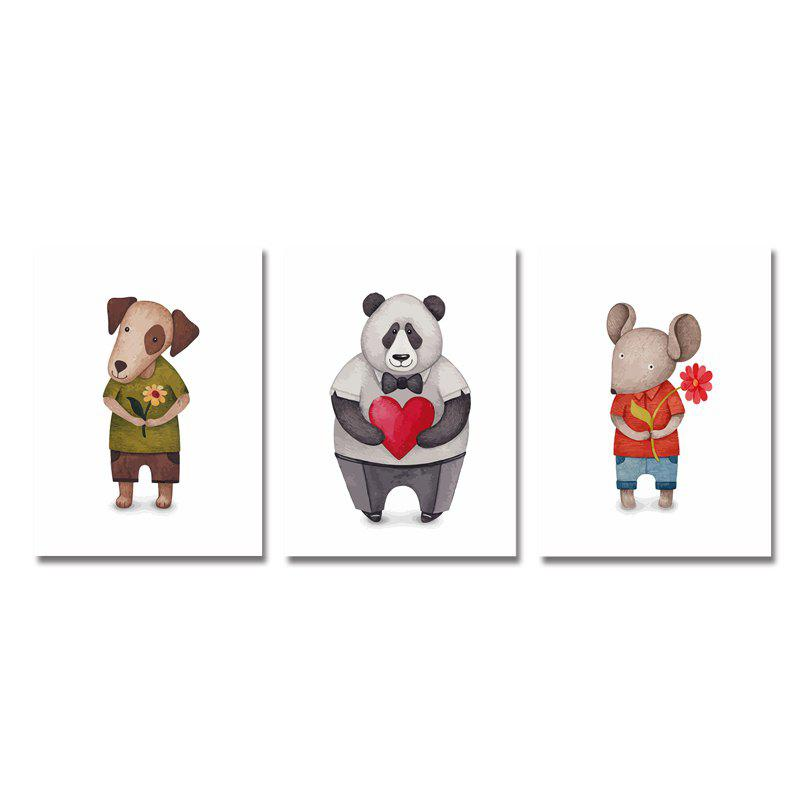 Outfits 3PCS Cute Cartoon Bear Puppy Print Art