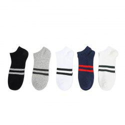 New Pure Cotton Men Stealth Boat Socks 5 Pair -