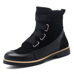 ZEACAVA Autumn and Winter New Leather Martin Boots -