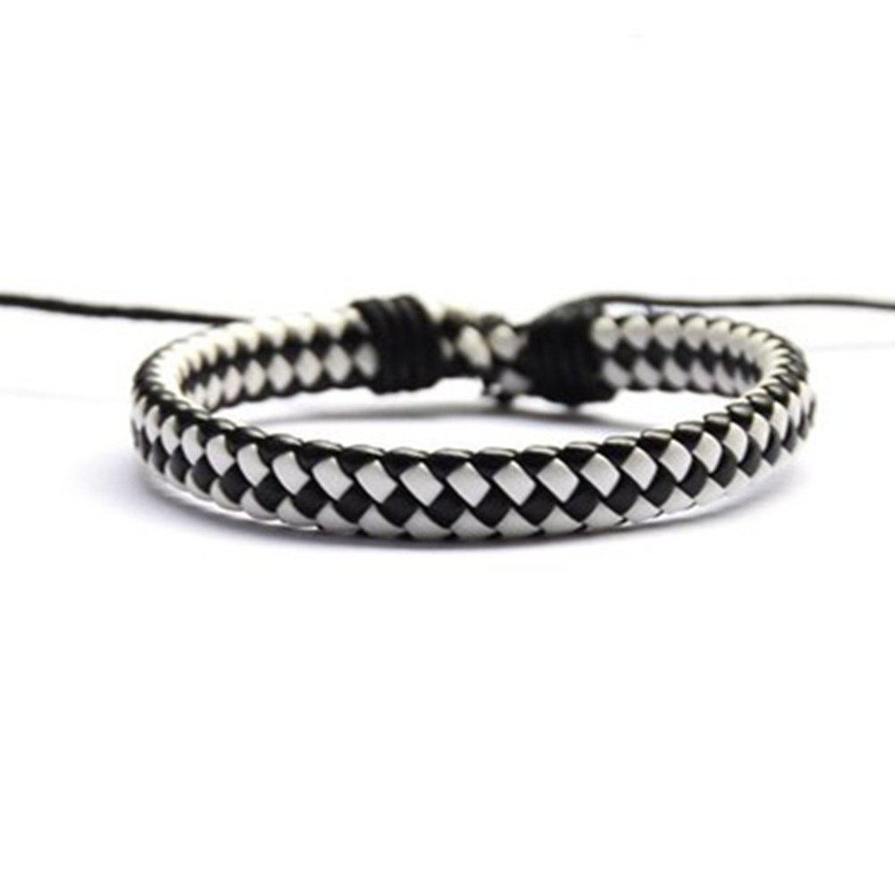 Trendy Hand Knitted Cowhide Bracelet Fashion Accessories