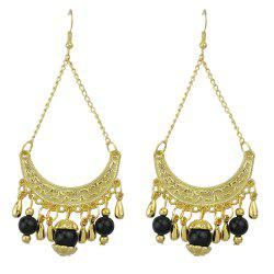 Fashion Beautiful Metal Geometric Tassel Pendant Earrings -