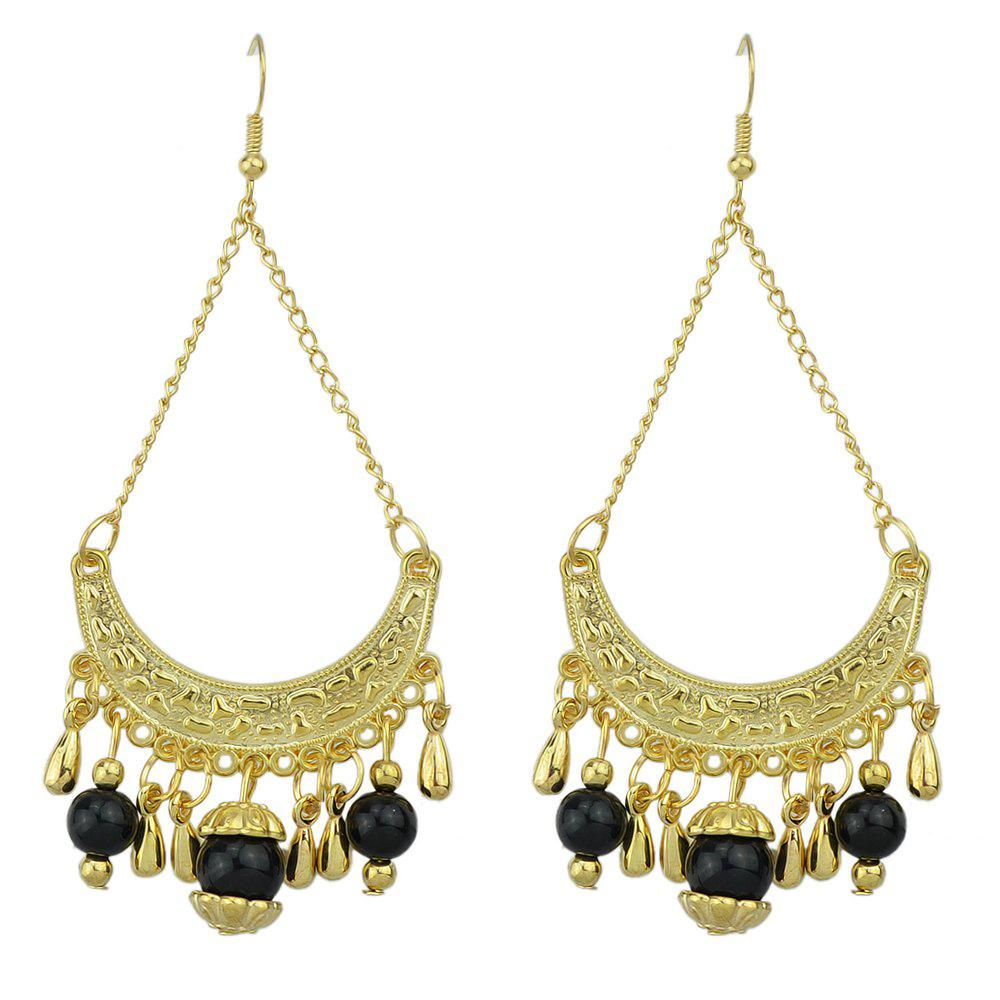 Fancy Fashion Beautiful Metal Geometric Tassel Pendant Earrings
