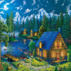 3D Jigsaw Paper Christmas Wood House  Puzzle Block Assembly Birthday Toy -