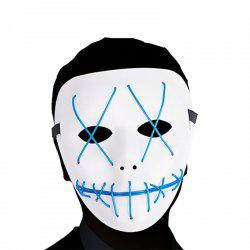 Scary LED Mask Halloween Cosplay Costume for Festival Parties Blue -
