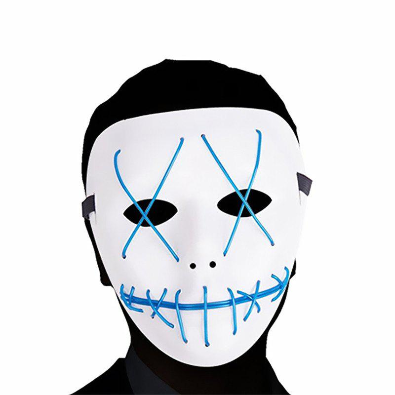 Buy Scary LED Mask Halloween Cosplay Costume for Festival Parties Blue