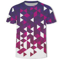 Men's British Style 3D Printed Short-sleeved T-shirt -