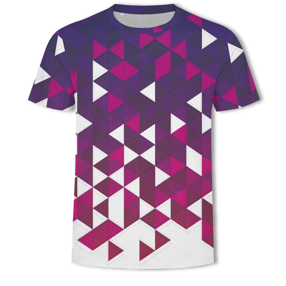 Discount Men's British Style 3D Printed Short-sleeved T-shirt