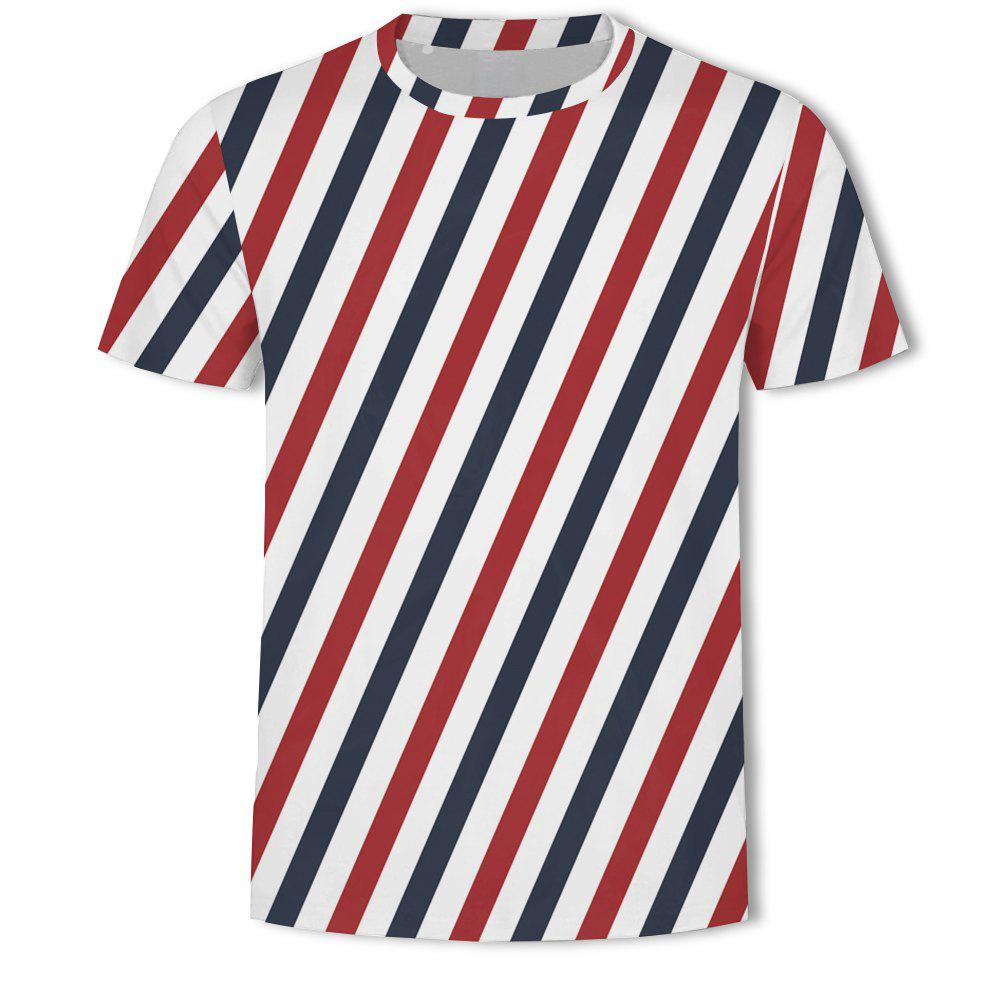 Affordable Men's British Style 3D Printed Short-sleeved T-shirt