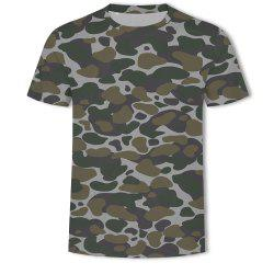 Men's Camouflage Personalized Print short-sleeved T-shirt -