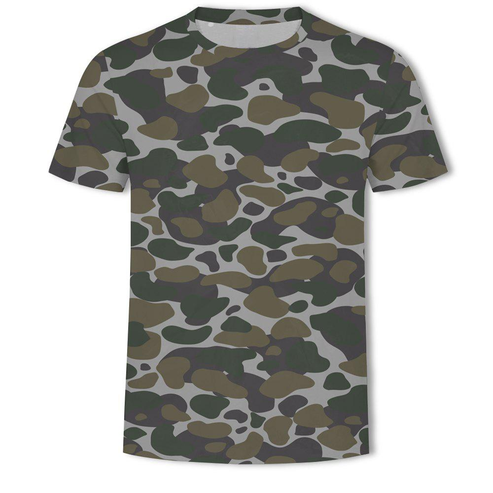 Shop Men's Camouflage Personalized Print short-sleeved T-shirt
