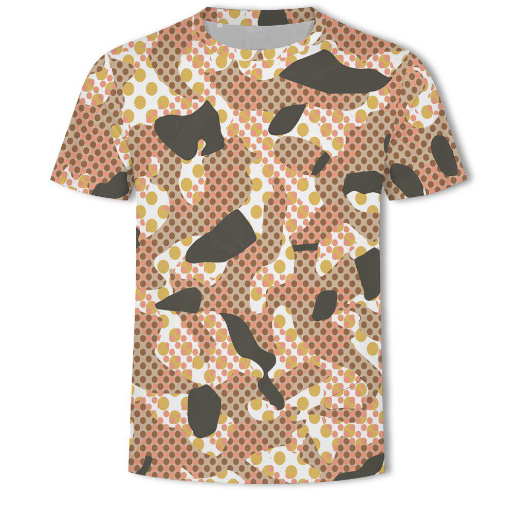 Latest Men's Camouflage Personalized Print short-sleeved T-shirt