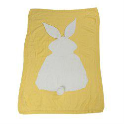 Baby Girl and Boy Knit Blanket and Rabbit Wool Quilt -