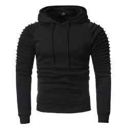 Men's Fashion Pleated Pleated Solid Color Sweater -