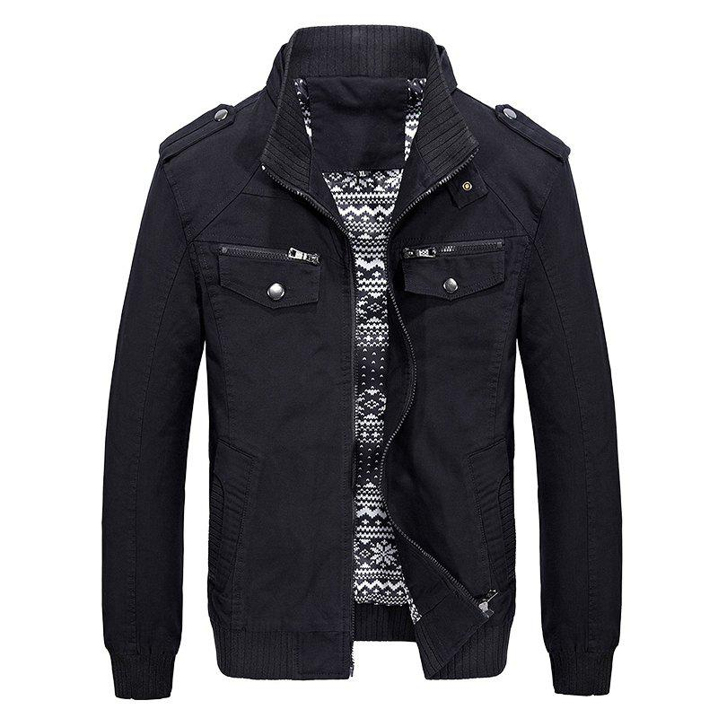Shop Men Autumn Fashion Solid Jacket
