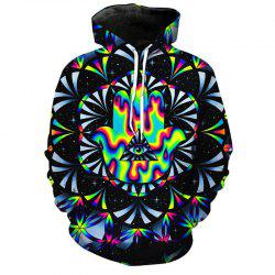 Men's Forest Starry Sky 3D Print Hoodie -